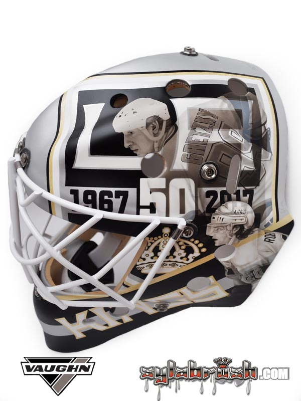 <p>50th anniversary mask with a Gretzky & Robitaille tribute.</p>