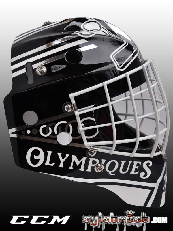 <p>José Théodore mask replica during his time with the Hull Olympiques.</p>